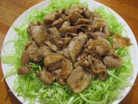 さっぱりポン酢の豚肉生姜焼き