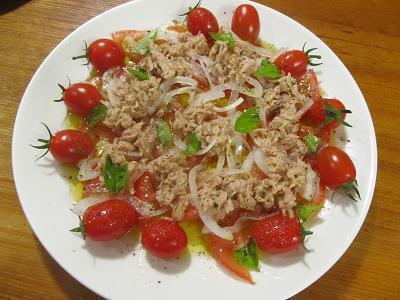 バジルオイルのサラダ