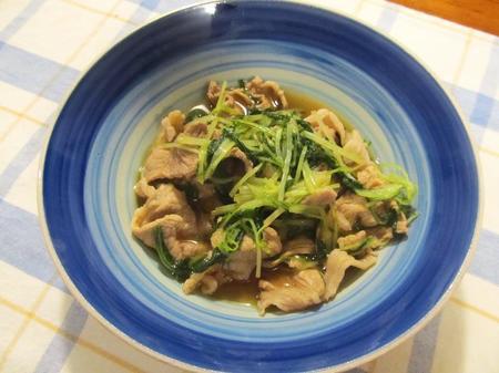 豚小間切れ肉と水菜のハリハリ煮