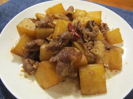 大根と豚肉の甘辛こっくり煮