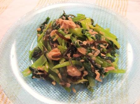 小松菜とツナのサラダ