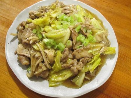 豚小間切れ肉とキャベツのとろみ炒め