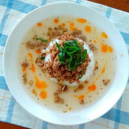 中華そぼろのスープご飯