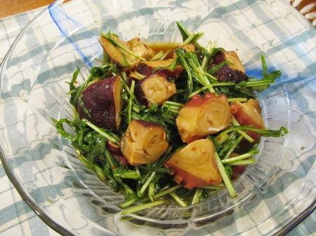 タコと水菜の中華サラダ