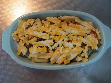 キムチと納豆のチーズドリア風2