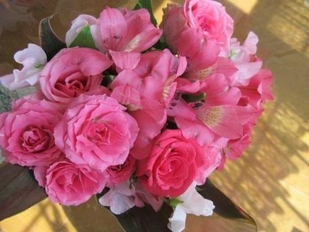 2017コストコのバラの花束1
