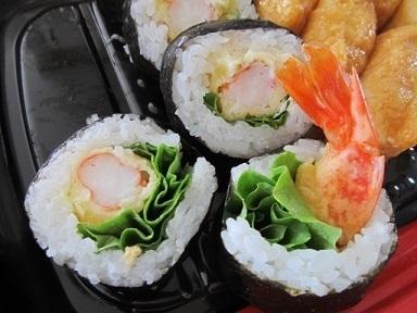 えび天巻入り助六寿司1