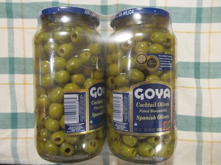 GOYAグリーンオリーブ瓶