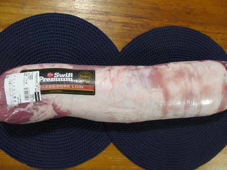 長ーいアメリカ産チルド豚肉ロース真空パック