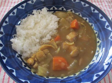 スパイラルハムの骨スープでカレー
