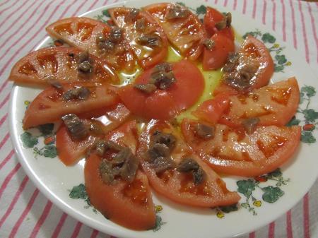 トマトアンチョビドレッシングサラダ