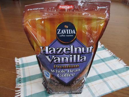 ザビダヘーゼルナッツ バニラホールビーンコーヒー