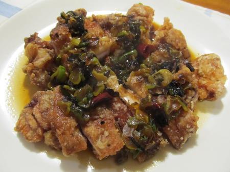 揚げ鶏のねぎソース(油淋鶏)