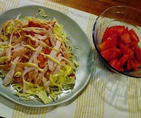 ロティサリーチキンのサラダ