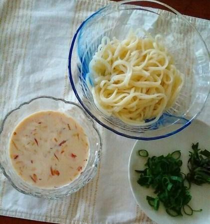 石丸製麺、金毘羅うどんに豆乳味噌だれ